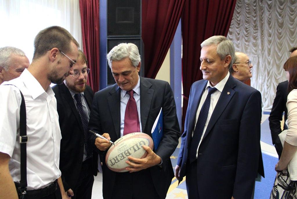 Посол Итальянской Республики в России встретился с сотрудниками и студентами университета «МИР»