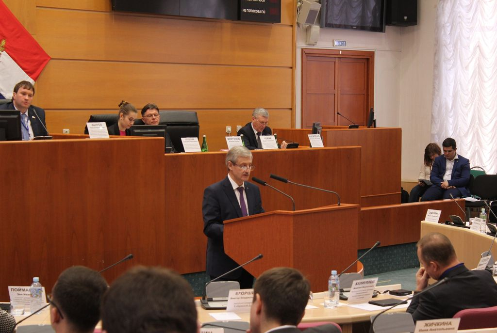 В.Г. Чумак во время выступления